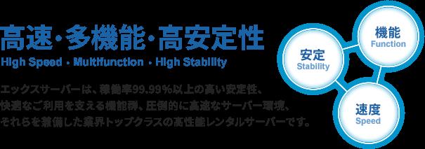 高速・多機能・高安定性 安心と快適さを兼備した高性能レンタルサーバー